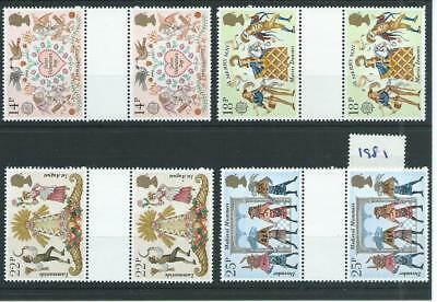 wbc. - GB - COMMEMS - 1981 - FOLKLORE - GUTTER PAIRS - UNM MINT SETS