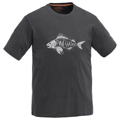 (152 (EU), Charcoal) - Pinewood Fish For Kids T-Shirt, Children's, Pinewood