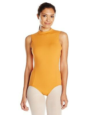 (Sweet Potato, Large) - Capezio Polo Neck Leotard. Shipping is Free
