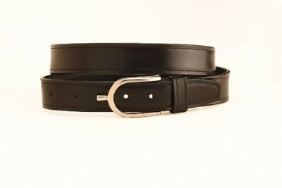 (38, Black/stainless Steel) - Tory Leather Spur Buckle Belt. Free Delivery