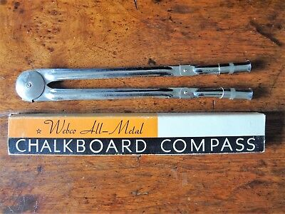 Vintage Weber Costello Company All Metal Chalkboard Compass Chalk USA Made Steel
