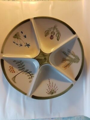 buchan stoneware 5 section serving/relish/dip dish. Hor d'oeuvre dish.