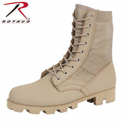 Classic Army Military Style Tactical Jungle Desert Tan Rubber Panama Sole Boots