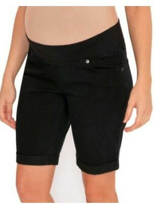 NWT Great Expectations Maternity Denim Black Jeans Shorts Size S 4-6 Bermuda 28""
