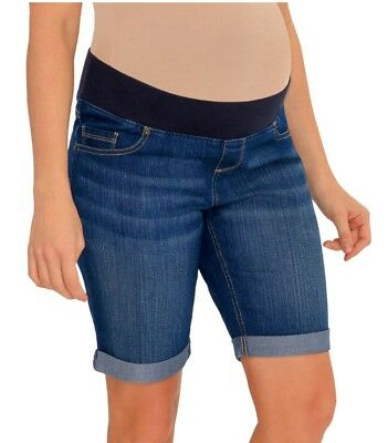 NWT Great Expectation Maternity Denim Blue Jeans Shorts Size Small 4-6 Bermuda