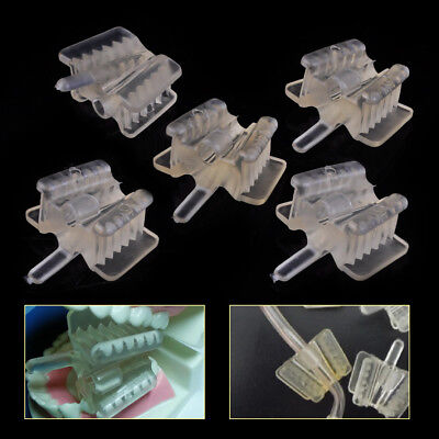 5pcs Dental Silicone Mouth Support Prop Bite Holding Saliva Ejector Suction Tip