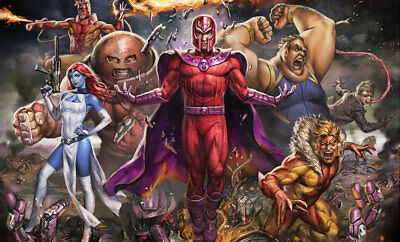 Marvel Magneto and the Brotherhood of the Mutants Art Print Unframed Sideshow