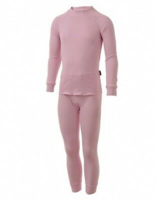 Five Seasons Superkids Base Layer Set Top and Bottom Thermal Underwear Pink