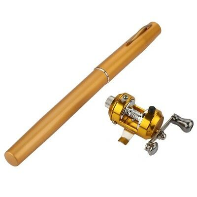 "(53""/135cm, Gold) - Ice Fly fishing Rod And Reel Combos Kit Set - Aluminium"