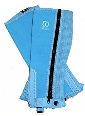 Ladies Extra Small (Childs Large) Tagg Washable Half Chaps, Blue Azure