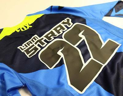 Motocross Race Shirt / Jersey Name and Number Printing - 2 Colour artwork for MX