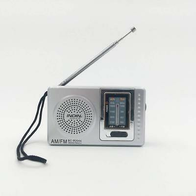 Portable AM/FM RADIO Battery Powered Compact Transistor Home Outage Power Rain