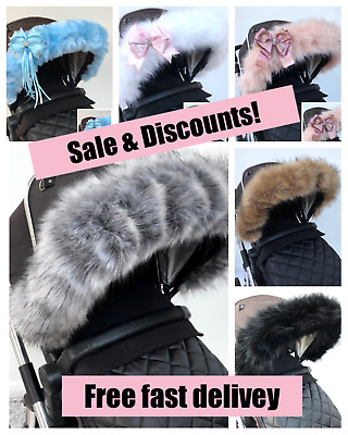 My Babiie fit pram hood fur, fur trim,FAST DELIVERY pushchair fit prams,