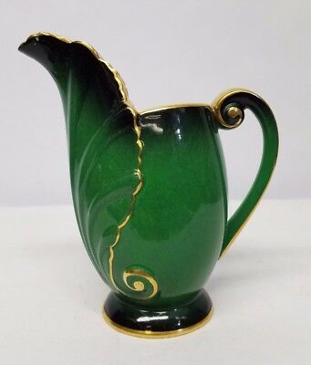 CARLTON WARE VERT ROYALE CREAMER MADE IN ENGLAND Free Shipping