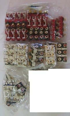 Lot 27 RCA Jack panel assemby 2 6 8 dual hexa octal parting out audio connectors