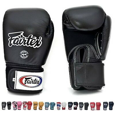 (410ml, Black (Breathable)) - Fairtex Muay Thai Boxing Training Sparring Gloves