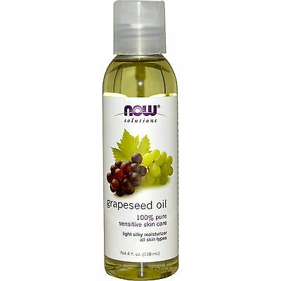 100% Pure Grapeseed Oil - Now Foods, 118ml, Body, Skin, Sensitive, Moisturising