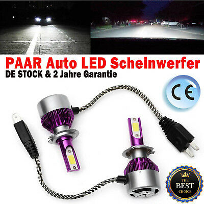 240W H7 High Low Bi SuperWeiß 2 Seiten LED Auto-Scheinwerfer-Kit 6000K Lampen DE