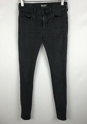 TRUE RELIGION Women's Jeans Size 24 Halle Mid Rise Super Skinny Dark Wash (H1)
