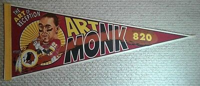 Art Monk Washington Redskins NFL Full Size football Player Pennant