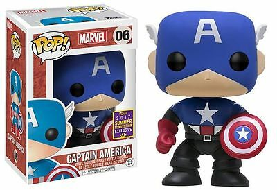 "Funko Pop! Marvel ""Captain America"" Summer Convention 2017 Exclusive NEW!"