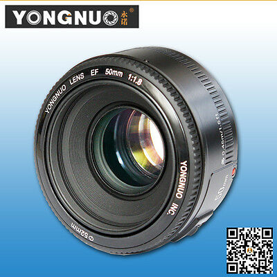 YongNuo  YN 50MM F1.8 Aperture Auto focus prime lens for canon EF mount EOS