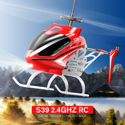 Syma S39 3CH 2.4Ghz Remote Control LED Light Medium RC Helicopter Metal