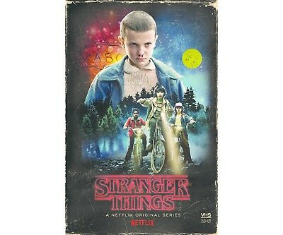 Stranger Things Season 1 Collector's Edition 4 Disc Blu Ray + DVD + Poster VHS