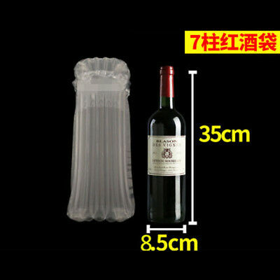 20 PCS Inflatable Air Column Rolls Protection Wine Bottle Bubble Wrap Packaging