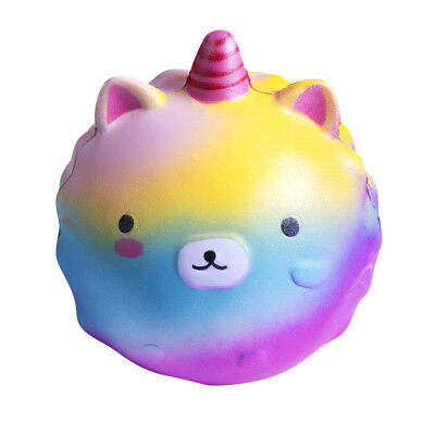 AU STock Unicorn Kawaii Squishy Squeeze Jumbo Slow Rising Charms Kids Toy Gifts