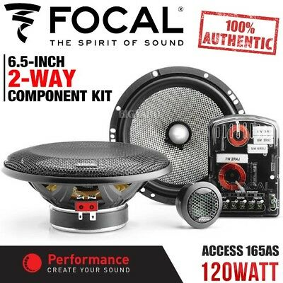 "New FOCAL ACCESS 165AS 6.5"" 120W 2-Way Car Component Kit Speaker System (Pair)"