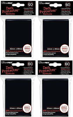 4x Ultra Pro - Deck Protector - Small Sleeves - Black 4x 60 Sleeves Japanese