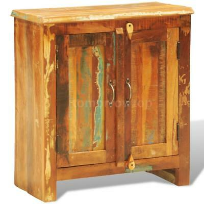 Reclaimed Wood Cabinet with Two Doors Vintage Antique-style H0I1
