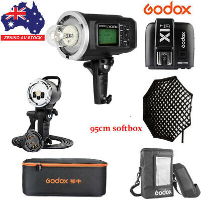 AU Godox AD600BM 600W HSS Flash+AD-H600B+95cm Grid Softbox+X1T-F For Fuji Kit