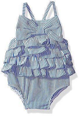 Mud Pie Baby Girls' Swimsuit One Piece, Ruffle, 2 Toddler