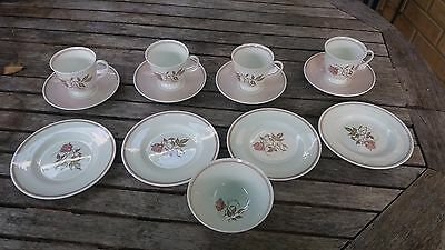 Vintage Susie Cooper Talisman C1139 China Tea Cups Saucers Side Plates Sugar Bow