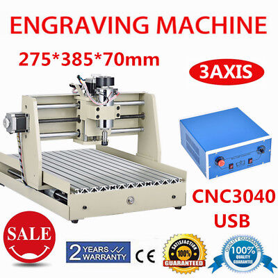 3AXIS CNC 3040 Router Woodworking Engraving Milling Machine Desktop Cutter USB