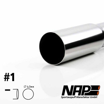 Nap Weld-On End Pipe 0 1/32x2 15/32In Sharp with Abe Stainless Steel