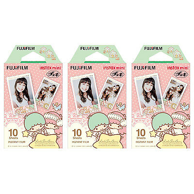 3 Packs 30 Photos Little Twin Stars FujiFilm Fuji Instax Mini Film Polaroid SP-2