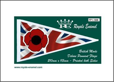 ROYALE PENNANT FLAG REMEMBRANCE POPPY 10% to BRITISH LEGION FP1.1508