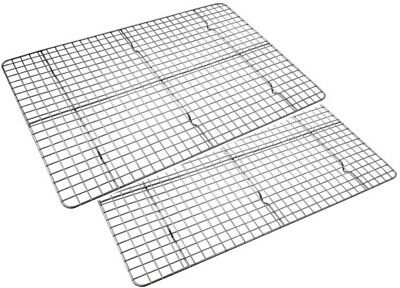 Checkered Chef COOLING RACK Baking Rack Twin Pack - Stainless Steel - Oven Safe