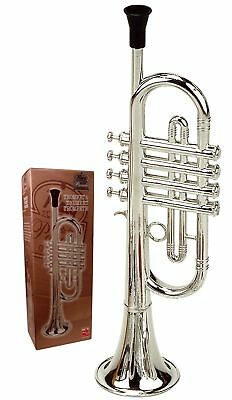 Reig Deluxe Trumpet Musical Instrument Child Art Game Toy Kids - Silver