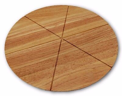 Checkered Chef Pizza Cutting Chopping Board Round With Grooves Cheese Bread