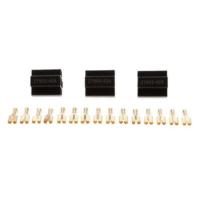 3 SETS 40A Car Relay Socket Holder 5Pin Connector with 63mm Copper