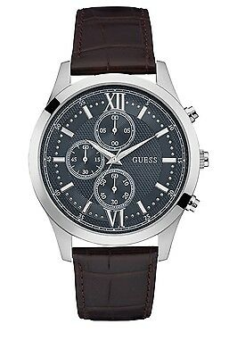 AUTHENTIC GUESS MEN'S HUDSON CHRONOGRAPH WATCH W0876G1 Brand New RRP:$399
