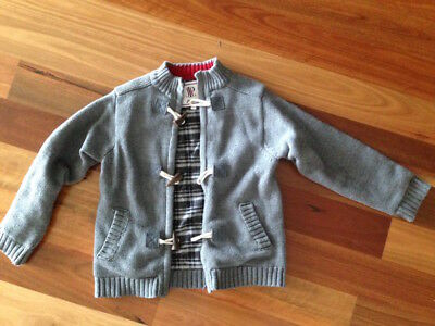 like new very good quality JACARDI jacket with zip & toggle buttons jumper size5