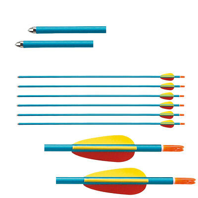 """29"""" Blue Lightweight 1916 Alloy Archery Arrows With Solid Bullet Points"""