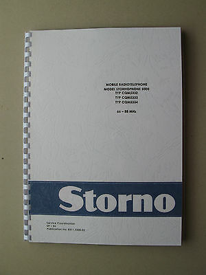 Stornophone 5000 - Storno CQM5330 Service Manual 4m VHF-Band - TOP Zustand !