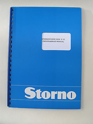 Stornophone 5000 Programming Manual for CQM5000 S12 Publication No: 8311.5110-02