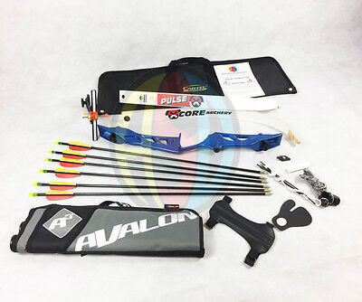 """Blue 68"""" Core Archery Jet Take Down Recurve Bow & Complete Package"""